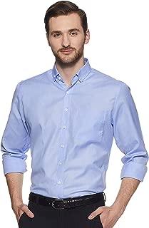 SHAFTESBURY LONDON Men's Solid Slim fit Cotton Formal Shirt for Men (Blue,Parent)