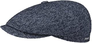 Stetson Hatteras Wool Herringbone Flat Cap Men - Made in The EU