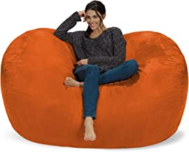 Extra Large 6' Fuf Comfort Suede Bean Bag Cover by Ink Craft (6 feet, Orange)