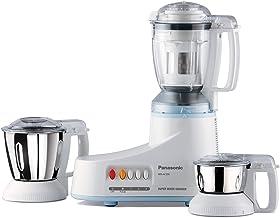 Panasonic AC MX-AC350 550-Watt Super Mixer Grinder with 3 Jars (White)