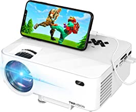 Mini Projector, TOPVISION Projector with Synchronize Smart Phone Screen,1080P Supported,..