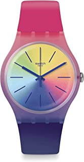 Swatch Men's Quartz Watch with Silicone Strap, Blue, 22 (Model: SUOK143)