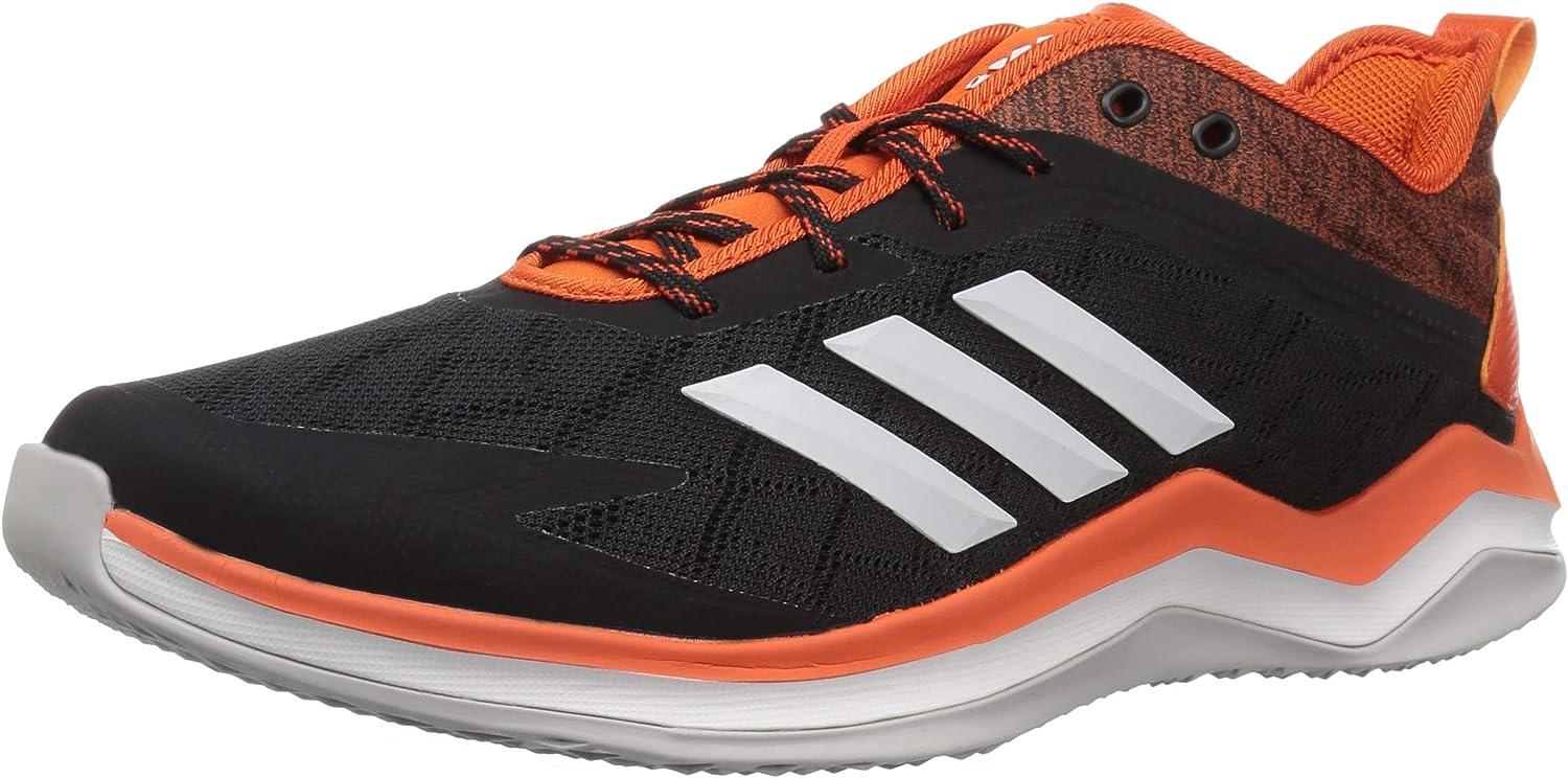 Adidas Men's Speed Trainer 4 Baseball schuhe, schwarz Crystal Weiß Collegiate Orange, 5 M US