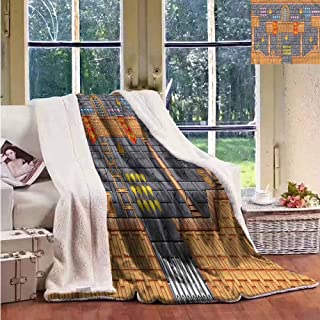 Sunnyhome Kids Wool Blanket Retro Video Game Quest Fantasy Autumn and Winter Thick Blanket Throw Size