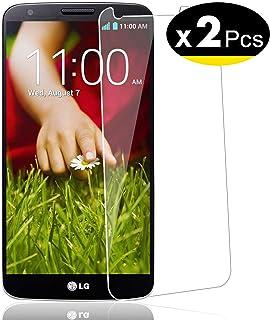 NEW'C 2 Unidades, Protector de Pantalla para LG G2, Vidrio Cristal Templado