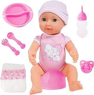 Bayer Design B2894071 Piccolina New Born Baby Doll, Soft Pink, 40 cm