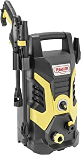 Realm 2000 PSI 1.75 GPM Electric Pressure Washer with Spray Gun, Adjustable Nozzle, Detergent Bottle, 13 Amp, Yellow/Black