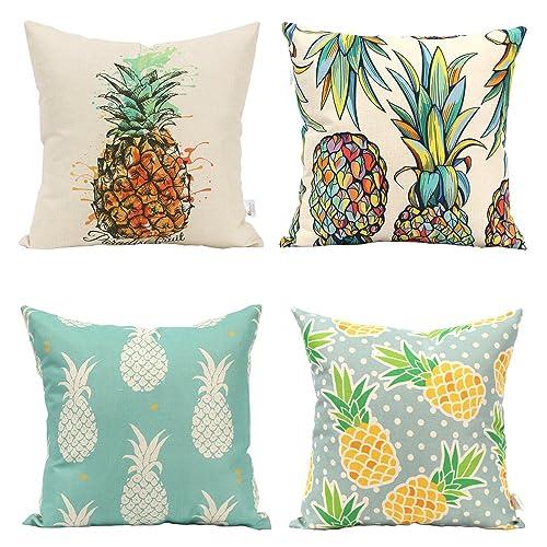 Stupendous Pineapple Outdoor Pillows Amazon Com Customarchery Wood Chair Design Ideas Customarcherynet