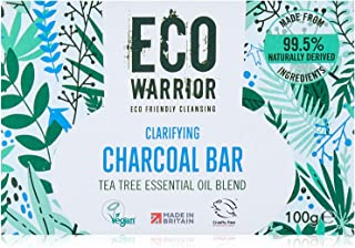 Little Soap Company Tea Tree & Charcoal Solid Bar - Naturally Antibacterial Medicated Bar With Essential Oil Blend, Organi...