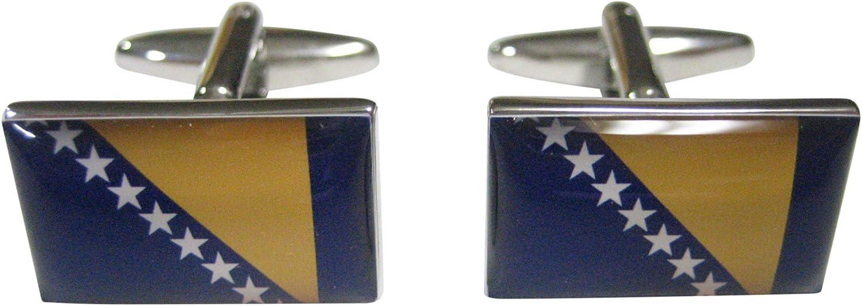 Kiola Designs Bosnia and Herzegovina Flag Cufflinks