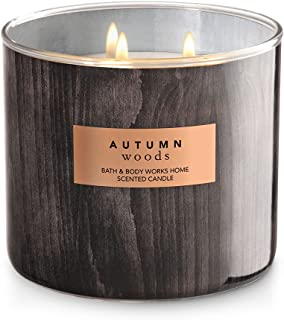 Bath & Body 3 Wick Candle Autumn Woods