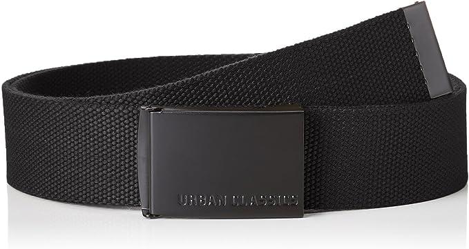 Urban Classics Unisex Gürtel für Damen und Herren Canvas Belt, Länge 120 cm, Höhe 3,7 cm, robuster Stoff, stabile Schließe