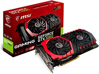 MSI GeForce GTX 1060 Gaming 6G Scheda Grafica, Interfaccia PCIe 3.0, 6 GB GDDR5, 192bit, 1280 Cuda Cores, Nero