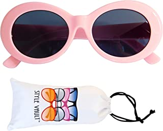 Kd3019 Baby infant (Age 0-24 Months) Thick frame Oval round Sunglasses clout goggles