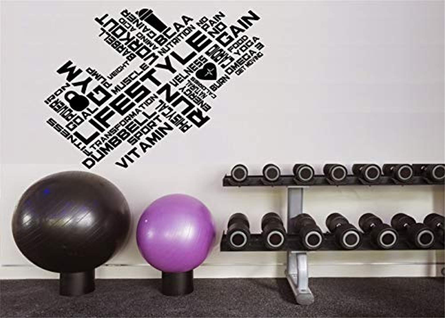 22 X 29 In Motivational Inspirational Gym Wall Decals Workout Fitness Crossfit Exercise Room Art Decor Vinyl Stickers Buy Online In Gibraltar At Gibraltar Desertcart Com Productid 99874206