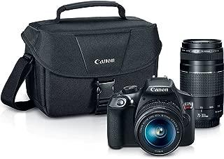 Canon Digital SLR Camera Kit [EOS Rebel T6] with EF-S 18-55mm and EF 75-300mm Zoom Lenses - Black