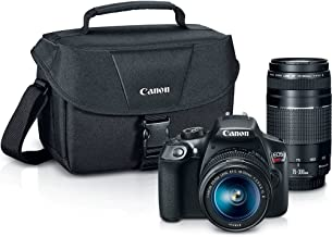 Canon Digital SLR Camera Kit [EOS Rebel T6] with EF-S 18-55mm and EF 75-300mm Zoom Lenses -...