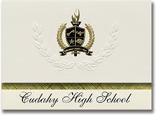 Signature Ankündigungen Cudahy (High School (Cudahy (, Wi) Graduation Ankündigungen, Presidential Stil, Elite Paket 25 Stück mit Gold & Schwarz Metallic Folie Dichtung B078TSYSSX  Optimaler Preis