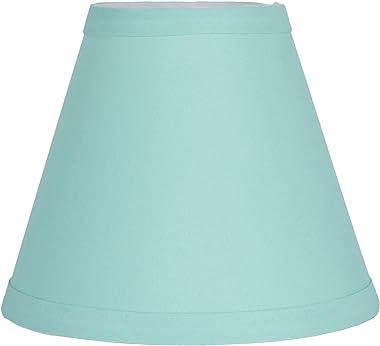 "Urbanest Turquoise Cotton Chandelier Lamp Shade, 3x6x5"", Hardback, Clip On"