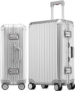 Langxj hj スーツケース 旅行出張 アルミ スーツケース キャリーケース アルミ・マグネシウム合金 軽量 静音 TSAロック搭載 スーツケース アルミ スーツケース 大型 6色1908