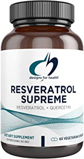 Designs for Health Resveratrol Supreme - Trans Resveratrol from Japanese Knotweed + Quercetin - Healthy Aging + Cardiovasc...