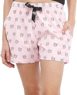 NITE FLITE Women Clock Print Cotton Shorts