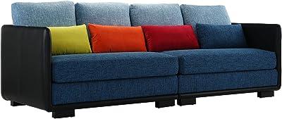 Amazon.com: TOV muebles tov-s86 Aviator sofá, Tela, Marino ...