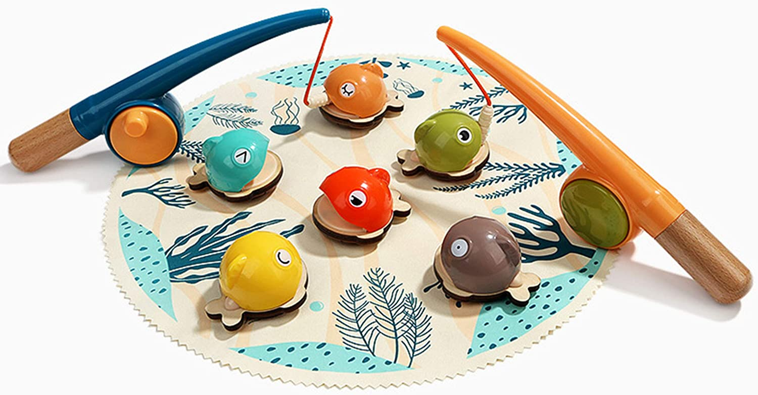Magnetic Wooden Fishing Game Kids Educati Toy Max 48% OFF Indoor Set Fort Worth Mall