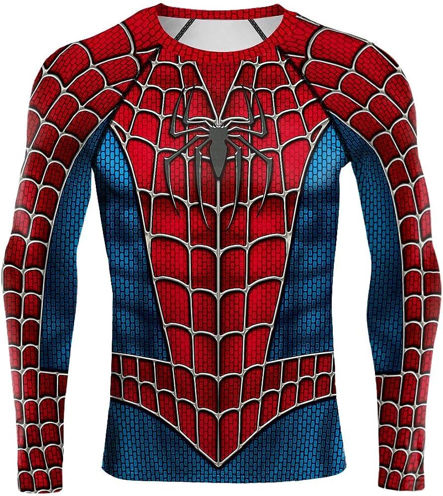 jiazery QZ Mens Super Hero Base Layer Underwear, Cool Dry Long Sleeve Compression Shirt, Sportness Sweatshirt