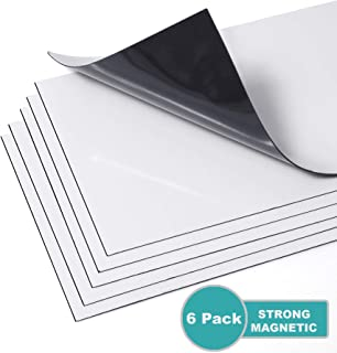 Strong Magnetic Floor Vent Covers Thick Magnet for Standard Air Registers - for RV, Home HVAC, AC and Furnace Vents, 5.5 inch X 12 inch, 6 Pack, Pure White