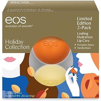 EOS Lip Balm 2 Piece Limited Edition Set,Vanilla Bean/Pumpkin Spice