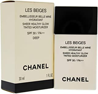 Chanel Les Beiges Sheer Healthy Glow Tinted Moisturizing Spf 30 for Women Makeup, Deep, 1 oz.