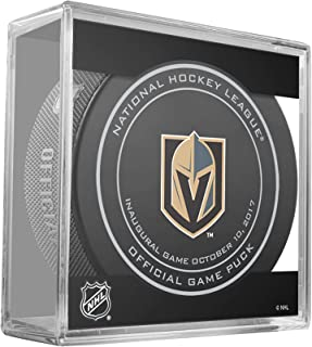 Vegas Golden Knights Unsigned InGlasCo October 10, 2017 Inaugural Opening Night Official Game Puck - Fanatics Authentic Certified