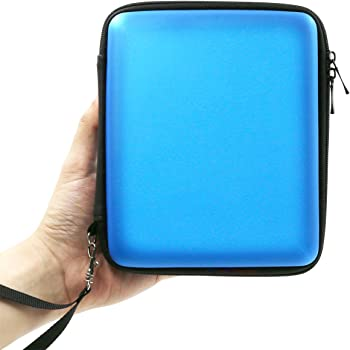 ADVcer 2DS Case, EVA Waterproof Hard Shield Protective Carrying Case with Hand Wrist Strap and Double Zipper for Nintendo 2DS (Blue)