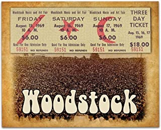 Woodstock Tribute - 11x14 Unframed Art Print - Great Music Bar Decor and Gift Under $15 for Artists and Musicians