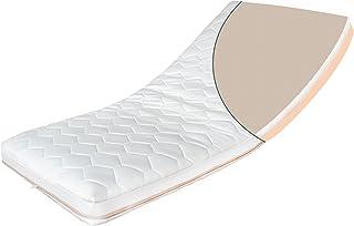 Kindermatratze Duo aus Buchweizen und Naturlatex – Baby Matratze Antiallergene Matratze für Babybett oder Kinderbett Weiß, 80 x 160 cm
