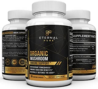 Immune Support Mushroom Supplement Complex - Lion's Mane Antioxidant Formula and Brain Booster with Nootropic Benefits by ...