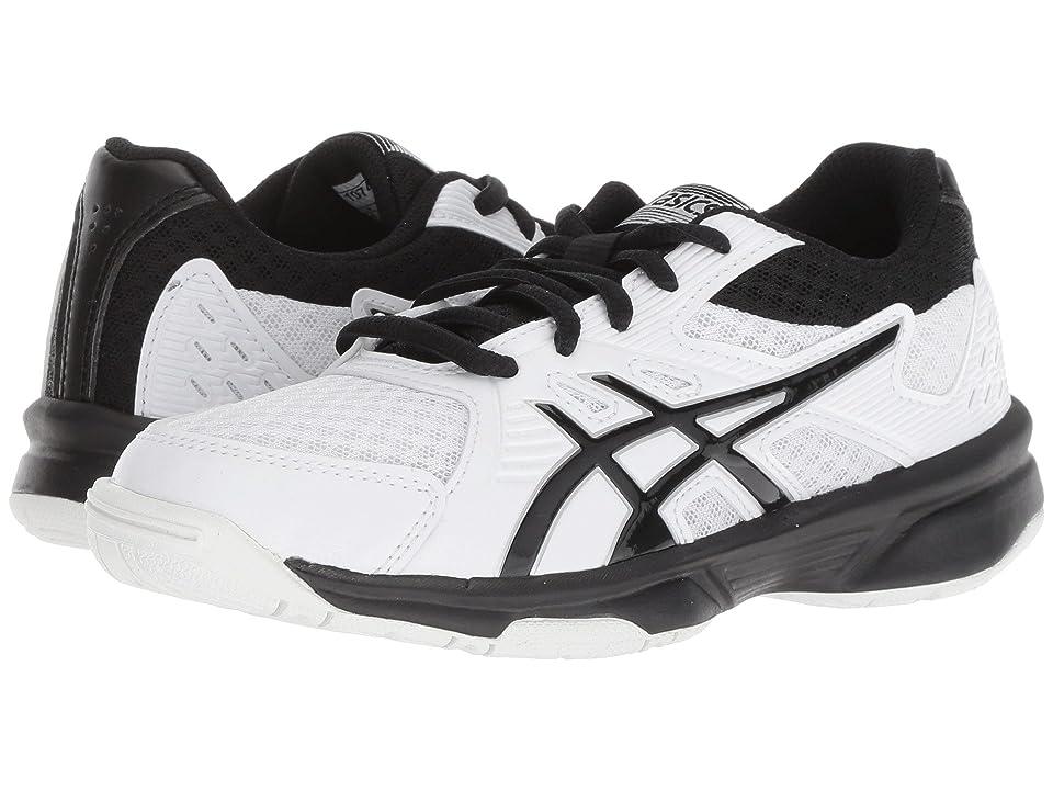 ASICS Kids Upcourt 3 Volleyball (Little Kid/Big Kid) (White/Black) Kids Shoes