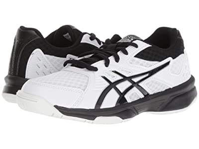 ASICS Kids Upcourt 3 Volleyball (Little Kid/Big Kid) (White/Black) Kids Shoes