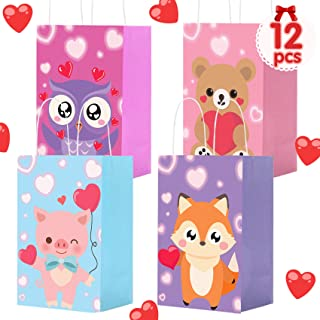 Sponsored Ad - MISS FANTASY Valentine Gift Bags for Kids 12 Pack Valentines Goodie Party Bags Valentine Bags for Kids Todd...