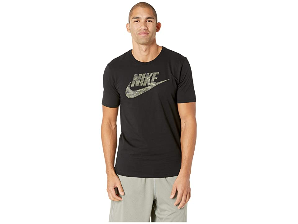 Nike NSW Tee Camo Pack 2 (Black/Neutral Olive) Men