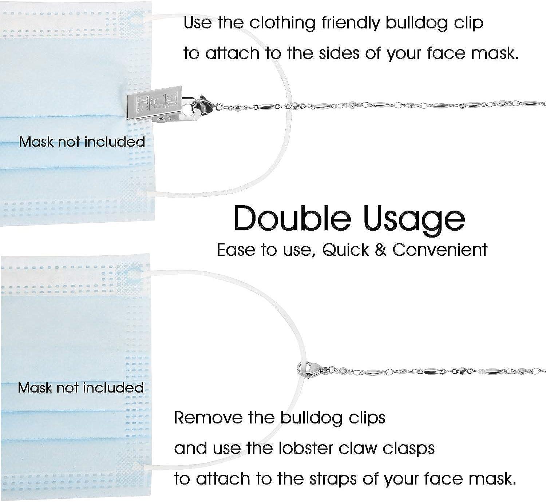 SAM & LORI Mask Holder Lanyard Chain Necklace Strap Mask Retainer Hanger Holder