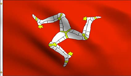 Amazon Com Dmse Isle Of Man Manx Brattagh Vannin Triskelion Flag 3x5 Ft Foot 100 Polyester 100d Flag Uv Resistant 3 X 5 Ft Foot Garden Outdoor