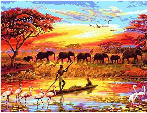 toma XIGZI Diamante Pintura áfrica áfrica áfrica Animal DIY Diamante Bordado 5D Mosaico Cuadrado Imágenes Completas por Números Rhinestones Elefantes sin Marco  100% a estrenar con calidad original.