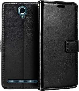 Alcatel One Touch Flash Plus plånboksfodral, premium PU-läder magnetiskt flippfodral med korthållare och ställ för Alcatel...