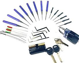 Lock Pick Set Gebroken Sleutels Extractor met Transparante Sloten voor Slotenmaker Gereedschap Oefenen en Training Vaardig...