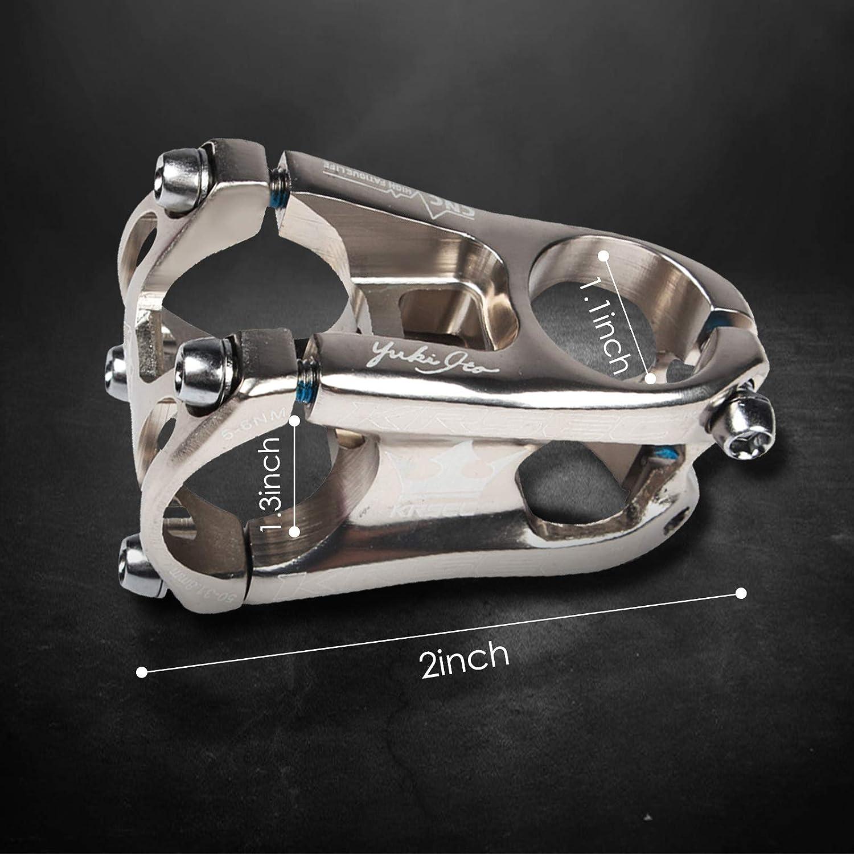 DIYARTS Bike Short Handle Bar Stem Alloy Aluminum 31.8 mm Caliber Bicycle Handlebar Stem