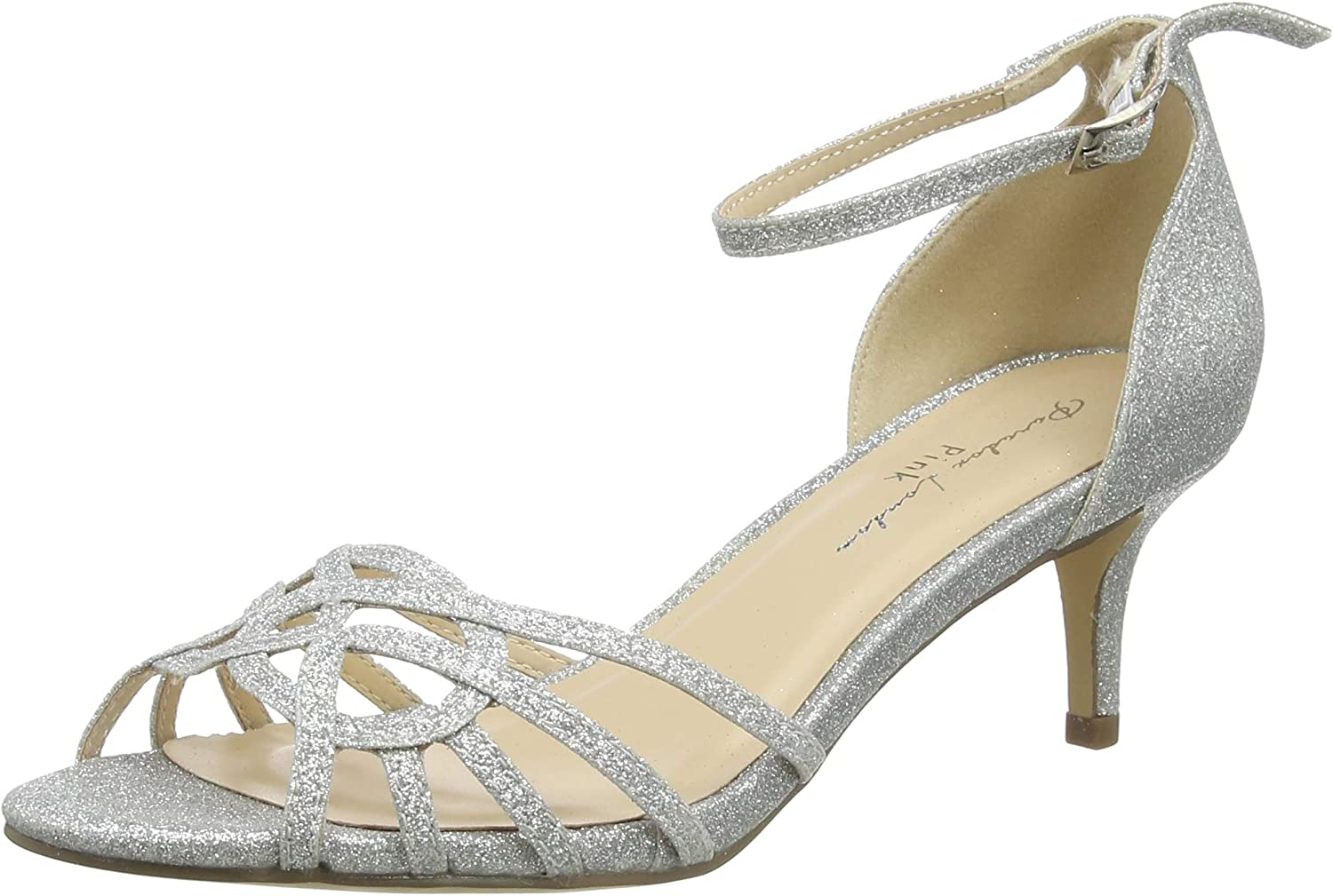 Paradox London Pink Women's Silver Sandals Large-scale sale Ankle 2021new shipping free Strap