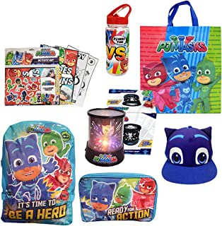 PJMasks Showbag Gift Pack with Backpack Cap Drink Bottle Colouring Book Toys Show Bag for Kids Birthday Christmas Easter F...