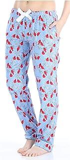 Image of Bird Red Cardinal Flannel Pajama Pants for Women - PajamaMania